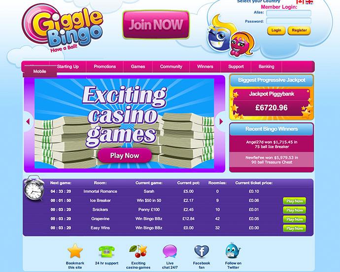 Termini casinò online Giggle modernas