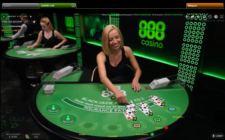 Blackjack live online consigli mascherati
